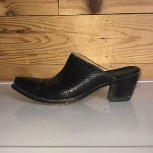 Vintage Old Gringo lizard boot shoes mules 8.5